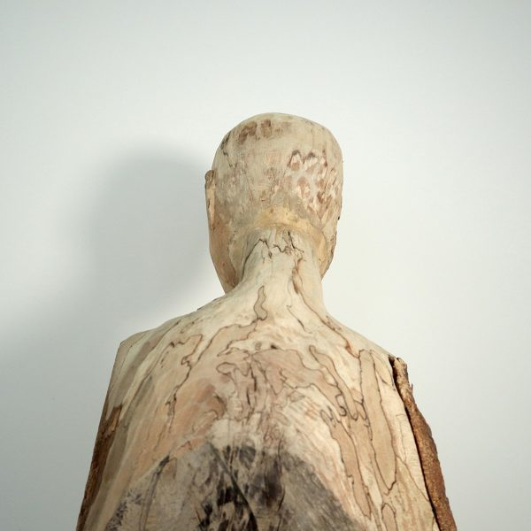 Assumption, Carlos Zapata 2021. Wood, 80cm high.