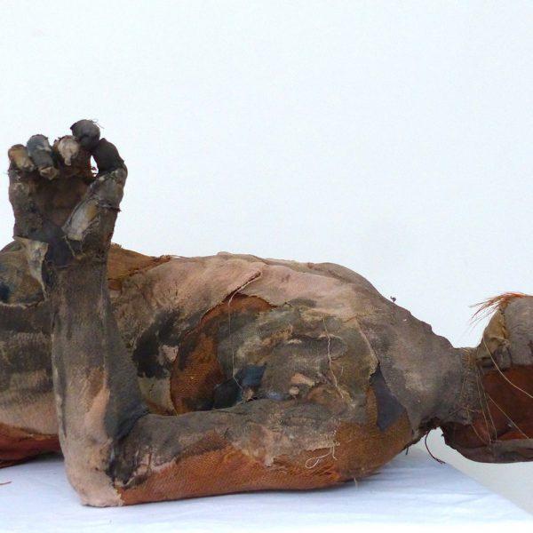 Bog Man, Carlos Zapata 2020. Mixed media, H 155cm x W 73cm x D 45cm.