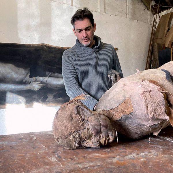 Bog Man, Carlos Zapata 2021, Mixed Media, H 155cm x W 73cm x D 45cm.
