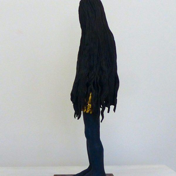 María Magdalena, Carlos Zapata 2020. Wood and paint, 55cm high.