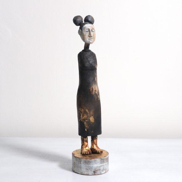 Solemn, Carlos Zapata 2019. Mixed media, 30cm high.
